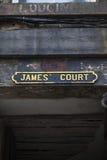 James Court i Edinburg Arkivbild