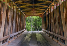 James Covered Bridge Interior Stock Images