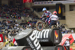 James Dabill. Compete at Trial Indoor of Barcelona, on February 9, 2014, in Palau Sant Jordi stadium, Barcelona, Spain. Toni Bou was the winner Stock Photos