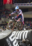 James Dabill. Compete at Trial Indoor of Barcelona, on February 9, 2014, in Palau Sant Jordi stadium, Barcelona, Spain. Toni Bou was the winner Stock Image
