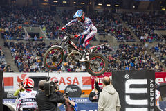 James Dabill. Compete at Trial Indoor of Barcelona, on February 9, 2014, in Palau Sant Jordi stadium, Barcelona, Spain. Toni Bou was the winner Royalty Free Stock Photography
