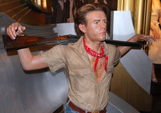 James Dean à Madame Tussaud's Images libres de droits