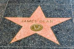 James Dean gwiazda na Hollywood spacerze sława w Los Angeles, CA obrazy stock
