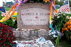 James Dean Headstone at Grave site Stock Photos