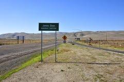 James Dean Memorial Junction Sign stock foto
