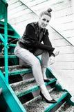 James Dean Woman bianco e nero Immagini Stock