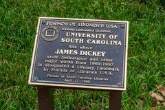 James Dickey Memorial Plaque författare royaltyfri foto