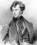 James Emerson Tennent. Sir James Emerson Tennent, 1st Baronet (1804-1869) on engraving from 1800s. Irish politician and traveller. Engraved by R.A.Arlett after a Royalty Free Stock Photos