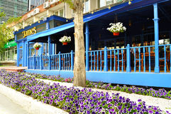 James English Pub and Restaurant in center of Yekaterinburg. Royalty Free Stock Photo