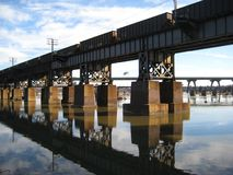 James-Fluss-Brücke Lizenzfreie Stockfotografie