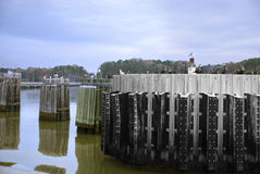 James-Fluss-Dock, Virginia Lizenzfreie Stockfotos