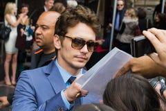 James Franco en el paseo de Hollywood de la ceremonia de la fama Imágenes de archivo libres de regalías