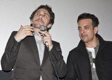 James Franco en Val Lauren bij Film Fest royalty-vrije stock foto