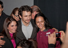 James Franco with Fans Stock Images