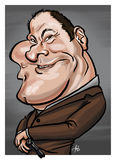 James Gandolfini caricature. Caricature of an American actor James Gandolfini aka Tony Soprano Royalty Free Stock Images