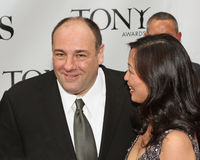 James Gandolfini and Deborah Lin Royalty Free Stock Photo