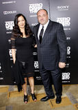 James Gandolfini and Deborah Lin Stock Photo