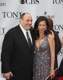 James Gandolfini e Deborah Lin Fotografia Stock