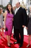 James Gandolfini e Deborah Lin Fotografia de Stock Royalty Free