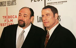 James Gandolfini e John Travolta Imagem de Stock Royalty Free