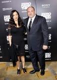 James Gandolfini en Deborah Lin Stock Foto