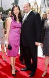 James Gandolfini et Deborah Lin Images stock