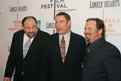 James Gandolfini, John Travolta, et Todd Robinson Photo stock