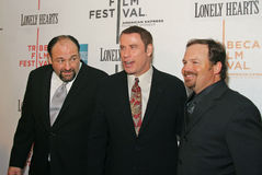 James Gandolfini, John Travolta, and Todd Robinson. Actors James Gandolfini, John Travolta, and Todd Robinson  arrive on the red carpet for the premiere of Stock Photo