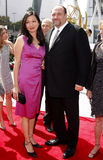 James Gandolfini och Deborah Lin Royaltyfri Fotografi