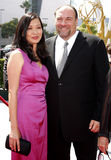 James Gandolfini och Deborah Lin Royaltyfria Foton