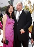 James Gandolfini och Deborah Lin Royaltyfri Bild