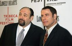 James Gandolfini und John Travolta Stockfotografie