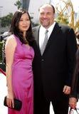 James Gandolfini y Deborah Lin Fotos de archivo libres de regalías