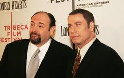 James Gandolfini y Juan Travolta Imagen de archivo libre de regalías