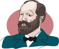 James Garfield. American president James Garfield 1881 vector illustration