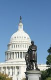 James Garfield and the Capitol. Statue of James Garfield at the US Capitol Stock Photo