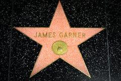 James Garner Star en el paseo de Hollywood de la fama Imagen de archivo libre de regalías