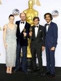James Gay-Rees, Asif Kapadia, Dev Patel and Daisy Ridley Stock Photos