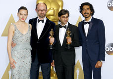 James Gay-Rees, Asif Kapadia, Dev Patel and Daisy Ridley Royalty Free Stock Photo