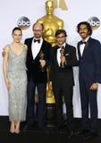 James Gay-Rees, Asif Kapadia, Dev Patel and Daisy Ridley Royalty Free Stock Images