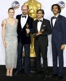 James Gay-Rees, Asif Kapadia, Dev Patel and Daisy Ridley Royalty Free Stock Photo