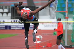 James Grayman - high jump in Prague 2012 Stock Photography