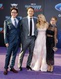 James Gunn, Chris Pratt, Anna Faris και Jennifer Ολλανδία Στοκ Εικόνα