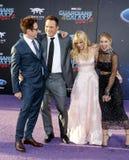 James Gunn, Chris Pratt, Anna Faris και Jennifer Ολλανδία Στοκ Εικόνες