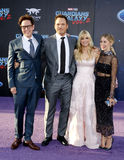 James Gunn, Chris Pratt, Anna Faris och Jennifer Holland Arkivfoton