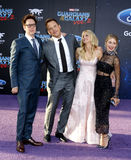 James Gunn, Chris Pratt, Anna Faris och Jennifer Holland Royaltyfria Bilder