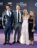 James Gunn, Chris Pratt, Anna Faris und Jennifer Holland Stockfotos