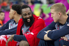 James Harden. Of USA Team in action at FIBA World Cup basketball match between USA and Mexico, final score 86-63, on September 6, 2014, in Barcelona, Spain Stock Images