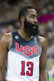James Harden. Of USA Team at FIBA World Cup basketball match between USA and Mexico, final score 86-63, on September 6, 2014, in Barcelona, Spain Stock Image