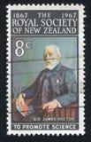 James Hector. NEW ZEALAND - CIRCA 1967: stamp printed by New Zealand, shows Sir James Hector, circa 1967 Stock Photography